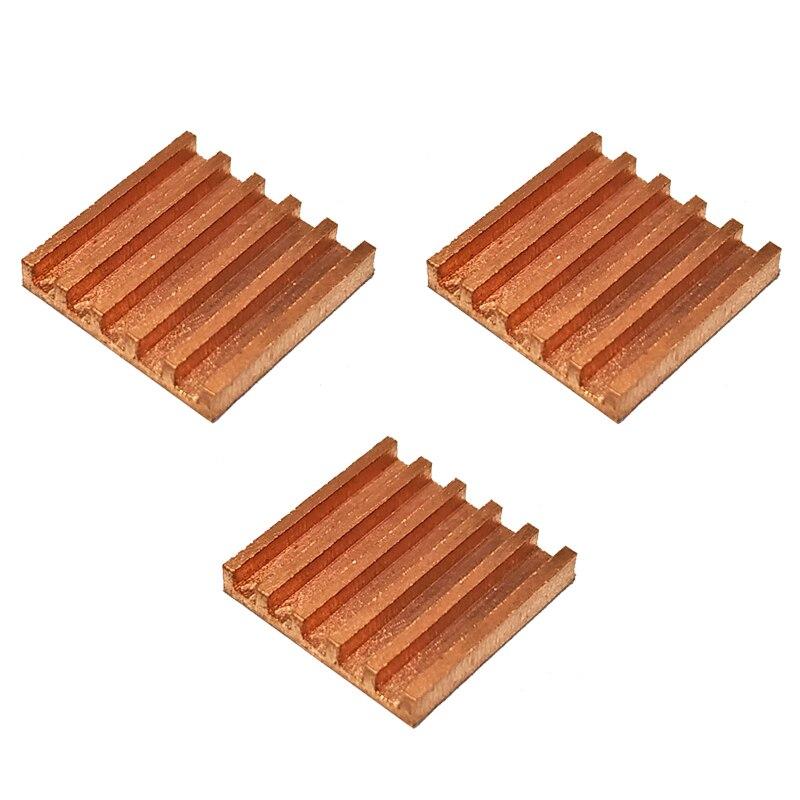 3 шт. Чистая медь мини ультра тонкий радиатор памяти RAM охлаждение для VGA DDR MOS GPU IC чипсет Радиатор 13x13x2мм