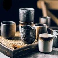 150ml 200ml japanese style teacup juice coffee mugs glass water cup stoneware ceramic hand painted kungfu cuisine drinkware