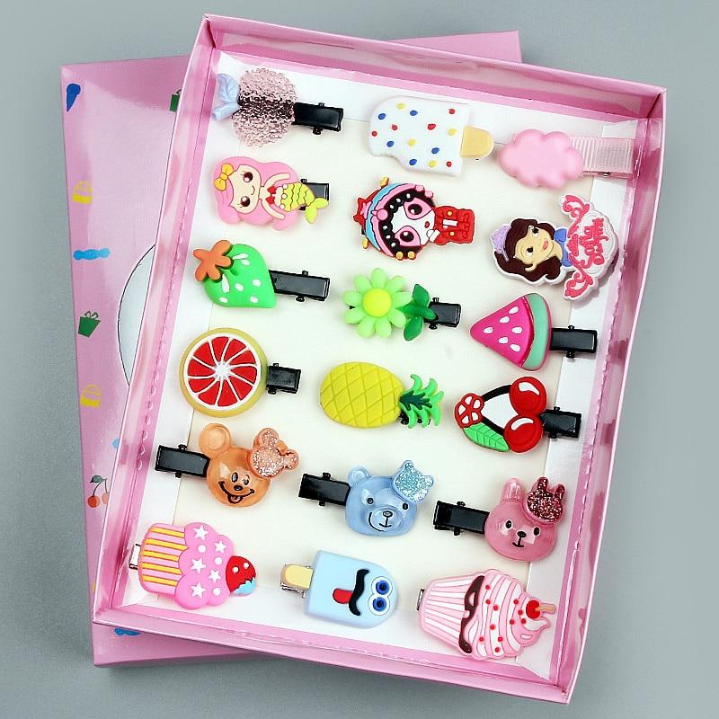 10 pçs moda dos desenhos animados grampos de cabelo bonito animal fruta hairpin menina flor bolo grampo de cabelo barrette crianças headwear acessórios para o cabelo