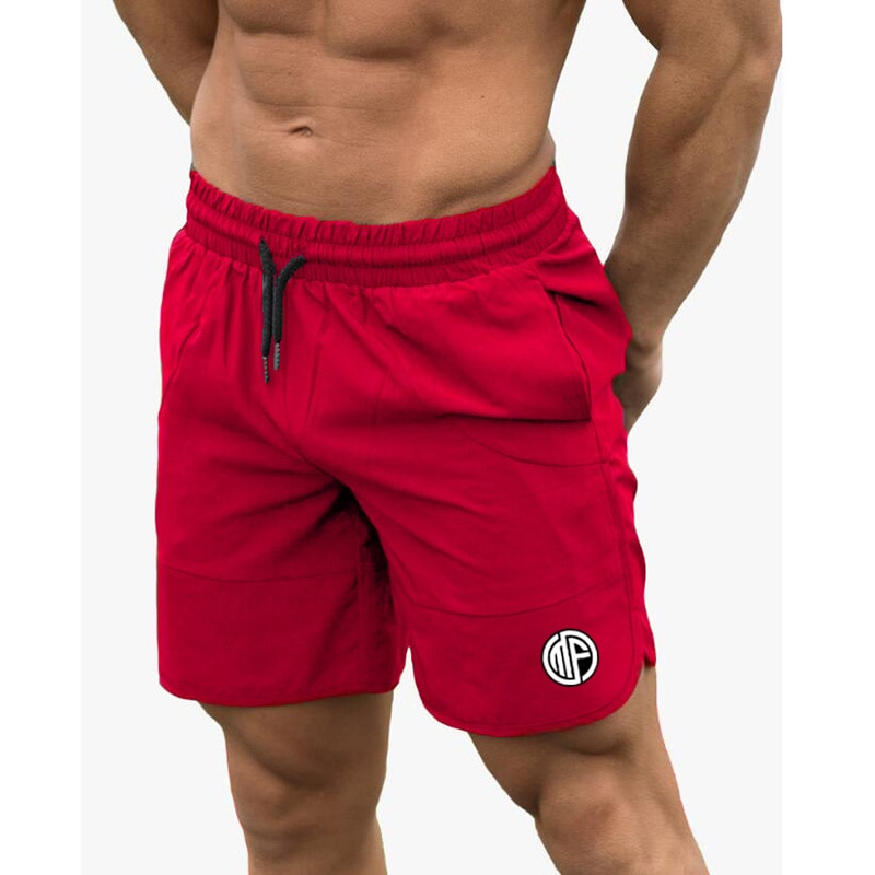 Fitness Shark Summer Jogger Shorts Men Patchwork Running Sports Workout Shorts Quick Dry Training Gym Athletic Shorts