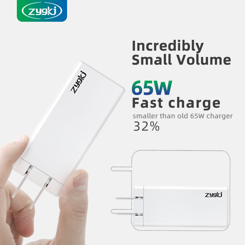 ZYG Surpasses Gan 65W PD Type-C Portable Quick Charger, Which Is Suitable For Charging IPhone, Samsu