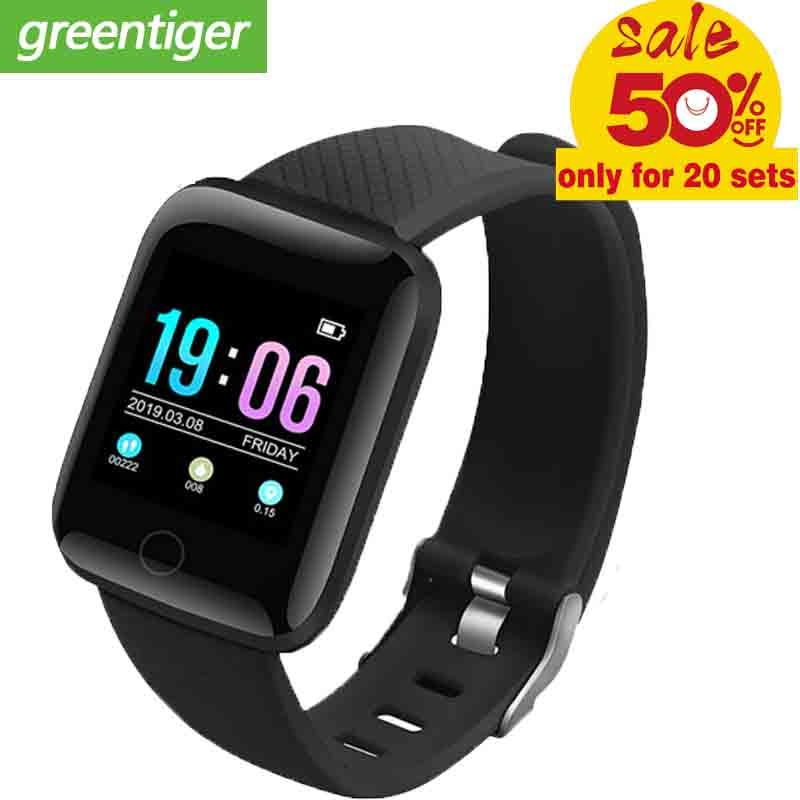 Reloj inteligente D13 1,3 pulgadas OLED pantalla a Color Bluetooth reloj deportivo inteligente impermeable pulsera Fitness Tacker para Android vs CK11c