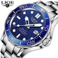 2021 lige top brand luxury watch for men stainless steel waterproof clock sport watches mens quartz wristwatch relogio masculino