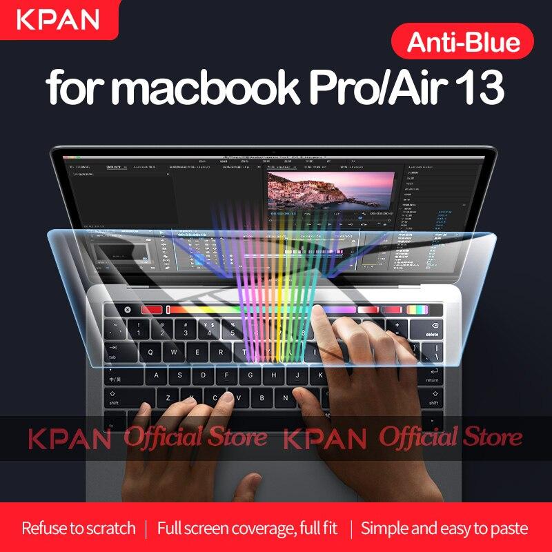 KPAN-واقي شاشة Macbook مضاد للضوء الأزرق ، غشاء زجاجي مرن لـ Pro/Air 12 13 15 16 بوصة ، شريحة M1 A2337 A2338 A2141 A2289