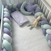 3 Meter Baby Bed Bumper Braid Knot Pillow Cushion Bumper for Infant Crib Protector Bumper Tour De Lit Bebe Tresse Room Decor