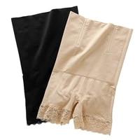 women abdominal slimmer hi waist seamless safe panty underwear stretch lace boyshort boxer brief under dress shorts slimm thigh