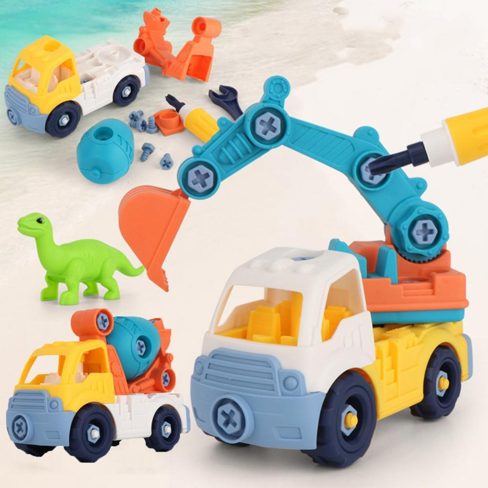 Engineering Toy Detachable Operate Easily ABS Construction Vehicles Toy for Kids Birthday Party Favor DIY Assemble Vehicle Baby assemble ph35005 1 35 russia 279 engineering nuclear tank blocks kits
