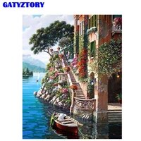 gatyztory frame picture landscape diy painting by numbers modern home wall art picture canvas painting for home 40x50cm artwork