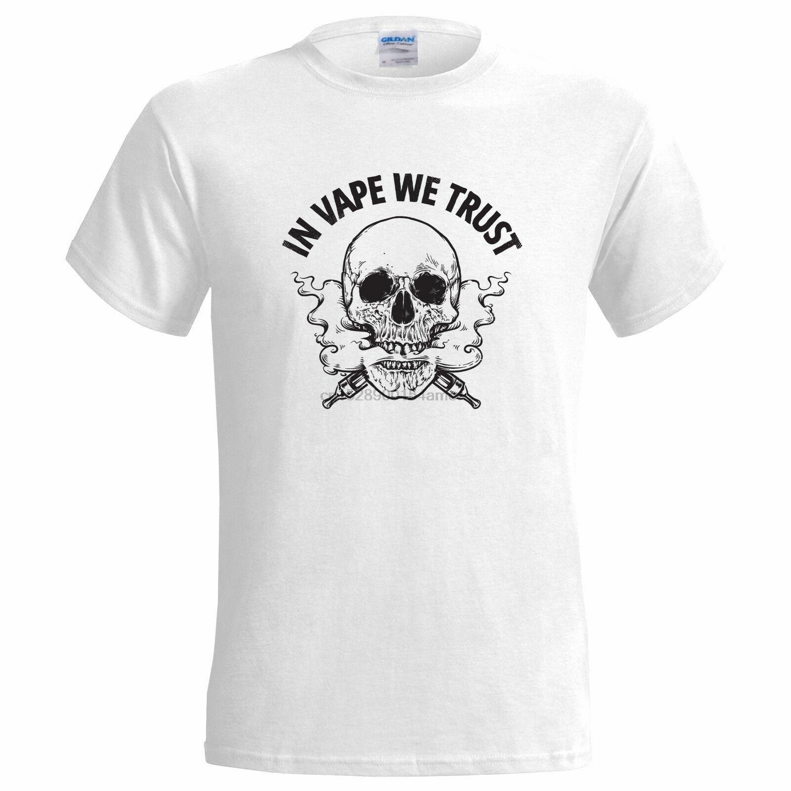 В VAPE мы доверяем череп тату дизайн мужская футболка VAPING VAPER MOD распылитель подарок