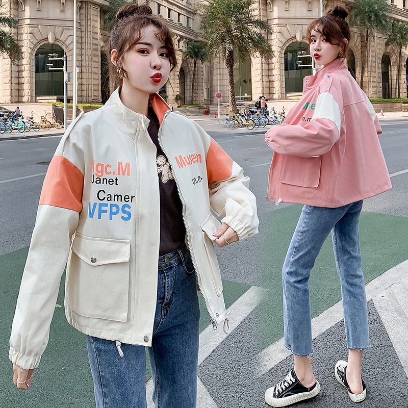 Fall Stand Collar Workwear New Coat Women's Jacket Top