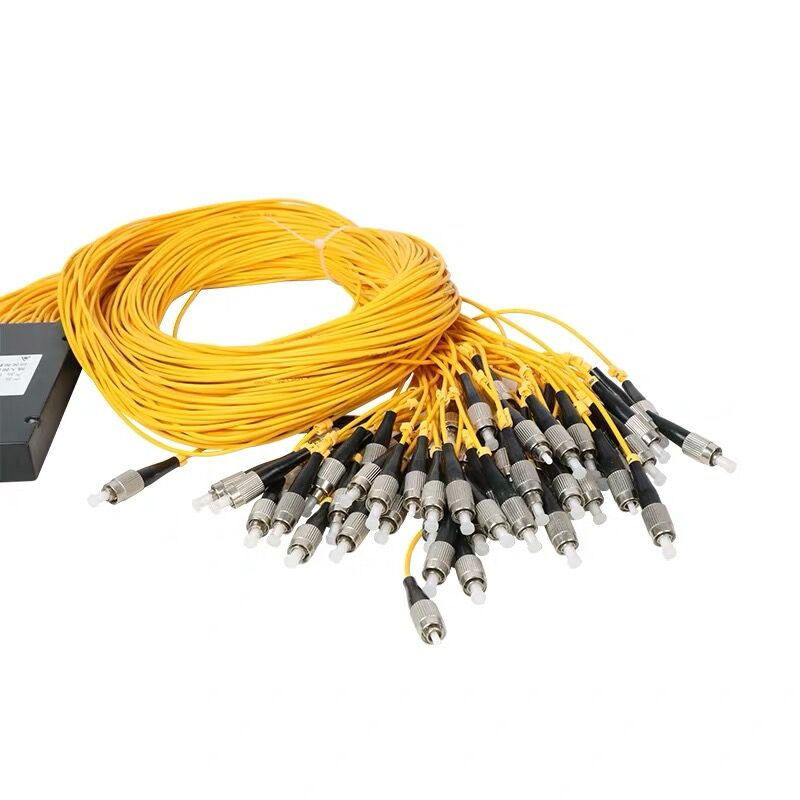 1x64 plc divisor óptico FBT par FC/UPC 1x64 plc splitterFBT óptico de fibra óptica divisor solo modeFC /UPC
