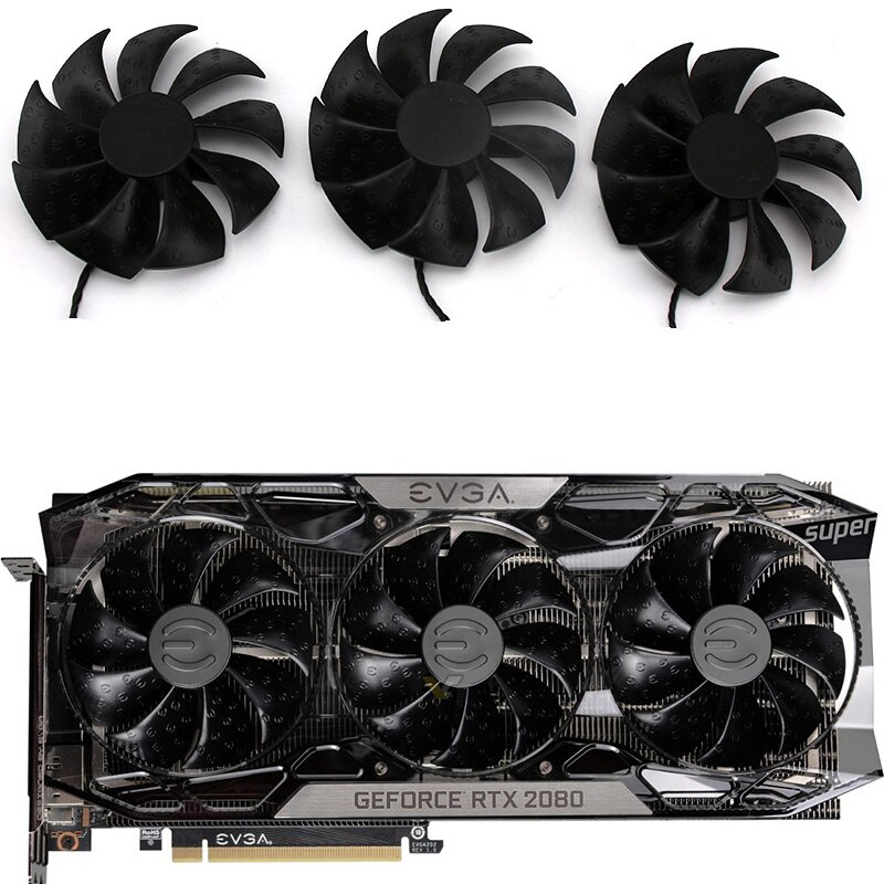 PLD09220S12HH DC12V 0.55A PC Cooling fan for EVGA RTX 2080TI FTW3 DT GAMING Video Graphics card cooling fan