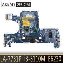 E6230 anakart 0WV99V CN-0WV99V 0WV99V DDR3 I3-3110M LA-7731P DELL E6230 Laptop anakart test 100% çalışma