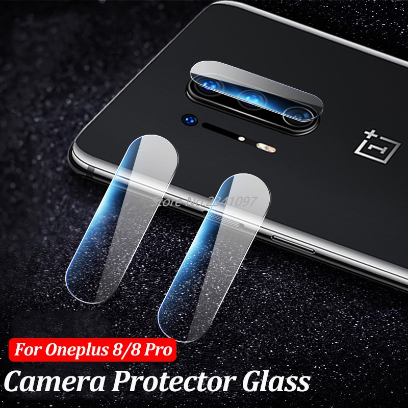 3PCs Back Camera Glass Case For Oneplus 8 7T 7 Pro  Screen Protector Lens Protective Film For Oneplu