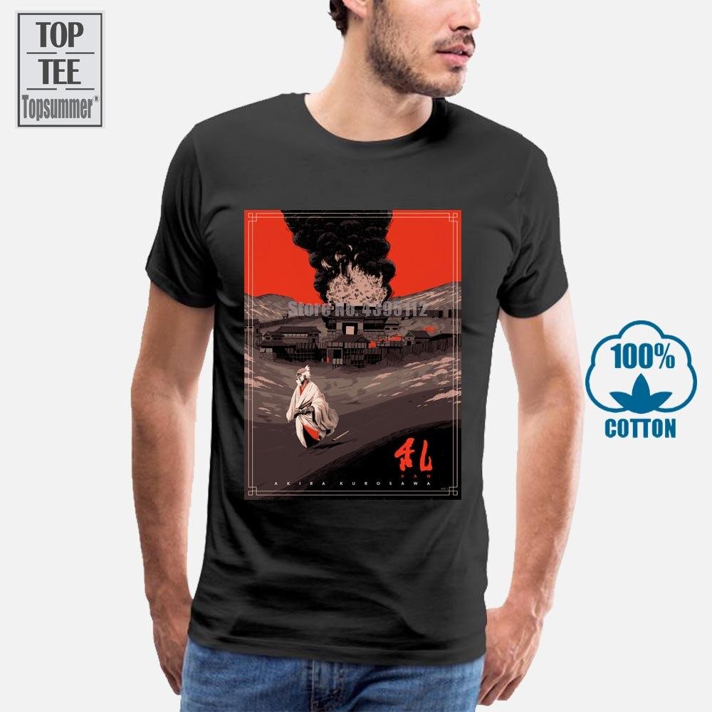 Ran Japanese película Ran Akira Kurosawa camiseta de los hombres camiseta Tops nueva llegada hombres camiseta Hip Hop camisetas llano camiseta hombres camiseta