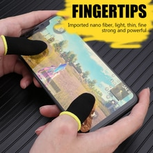 2pcs Finger Cover Breathable Game Controller Finger Sleeve For Pubg Sweat Proof Non-Scratch Touch Sc
