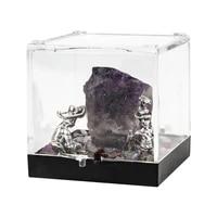 1pcs natural purple flourite raw minerals specimen chakra colorful crystals quartz energy home decoration gift