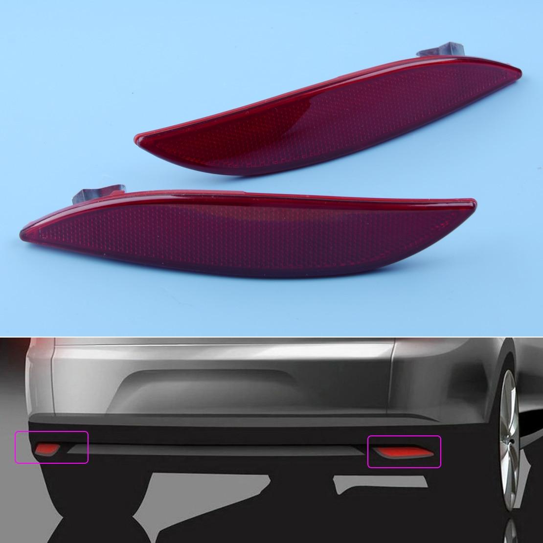 CITALL 2 rojo Reflector de parachoques trasero luz lente 265650004R apto para Renault Megane Clio MK3 2008, 2009, 2010, 2011, 2012, 2013