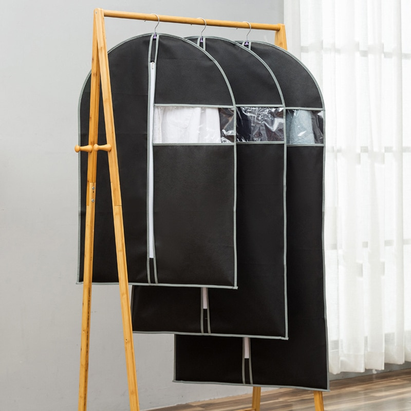 Чехол для одежды для защиты от пыли нетканый тканевый чехол для домашнего висячего типа пальто костюм Защитная сумка для хранения Органайзер для гардероба
