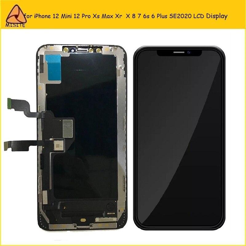 categoria aaa lcd para iphone 12 11 pro xs max xr x display lcd montagem da tela