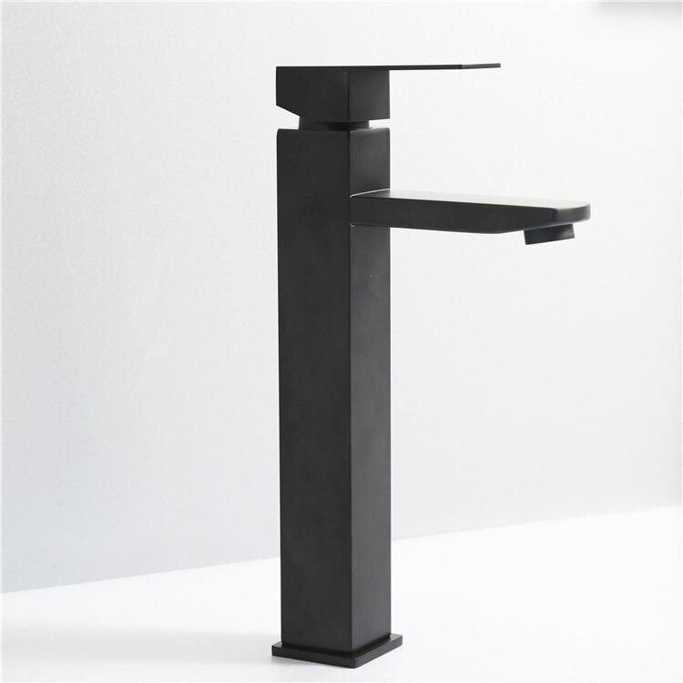 عالية الجودة منخفضة السعر اكسسوارات الحمام الفولاذ المقاوم للصدأ 304 خلاط أسود مقبض واحد حوض للحمام صنبور