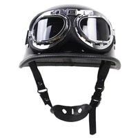 dot german retro motorcycle half helmet protective outdoor riding motorbike helmets with glasses electric scooter moto casco