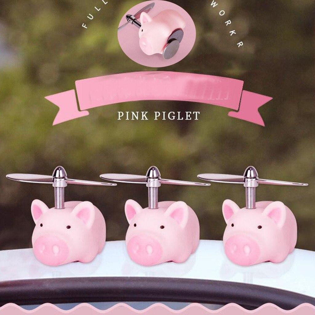 1PC świnia ozdoba samochodu kaptur magnes samochodowy śliczna świnka lustro dachowe rower udekoruj lekkie mocne elastyczne żel krzemionkowy akcesoria samochodowe