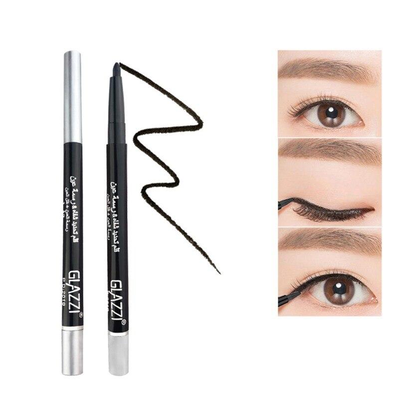 Delineador de ojos líquido negro 5 uds maquillaje cosmético delineador de ojos lápiz cera de maquillaje ojos rotulador impermeable de larga duración