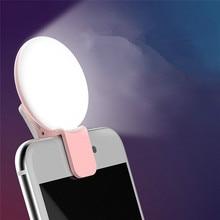 Mi ni Ring Lampe LED-Blitz Füllen Licht Up Selfie Lu mi nous für IPhone X 7 8 Nokia 5 xio mi mi 8 Clip Mobile Objektiv Telefon Kamera Linsen