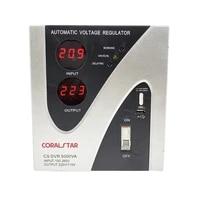 coralstar relay type stabilizer 5000w single phase input voltage output voltage