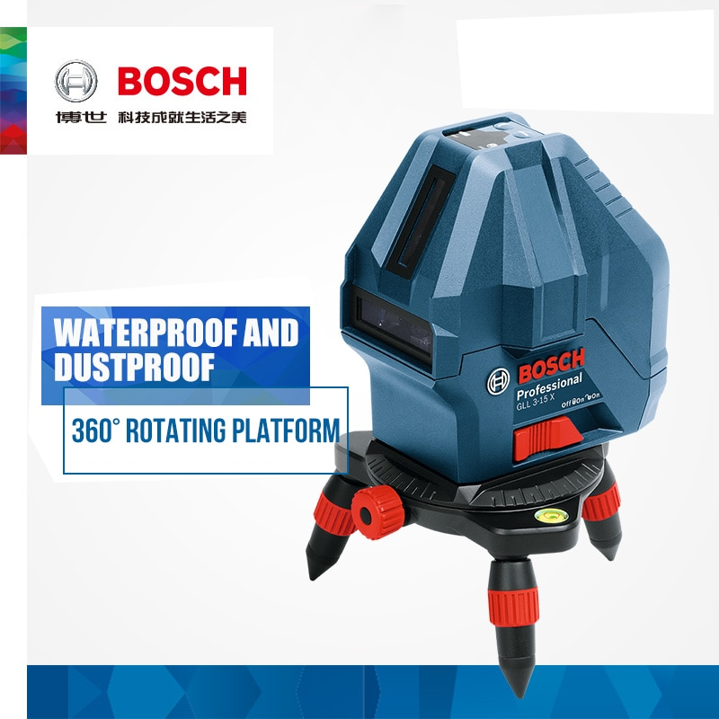 Bosch Laser Level 5 Line /3 Line Infrared Laser Marker GLL5-50X/GLL3-15X Self-Leveling Vertical and Horizontal Line electronic leveling level 5 line 8 line gll5 40e 8 40e laser level line throwing instrument high precision