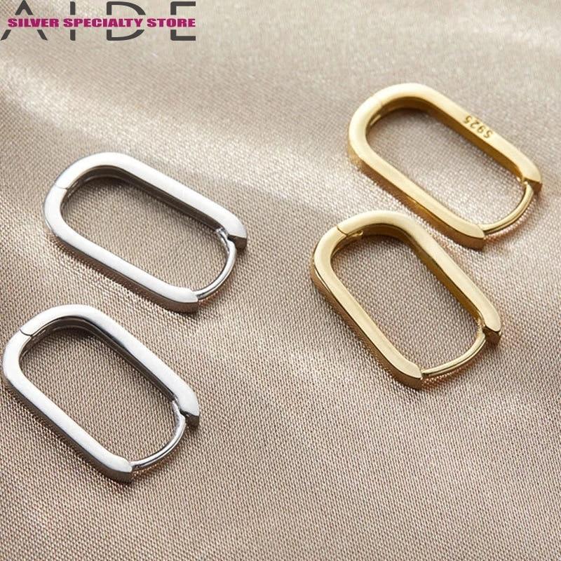 aide-925-стерлингового-серебра-в-Корейском-стиле-Новый-Мода-o-Форма-квадратные-серьги-в-виде-колец-простые-Очаровательные-Элегантные-серьги