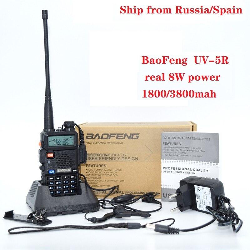 UV-5r High power version real 8W 3800mah CB radio 10Km Walkie Talkie ham radioTwo Way radio communicador for Baofeng uv-5r рация портативная рация baofeng uv 5r