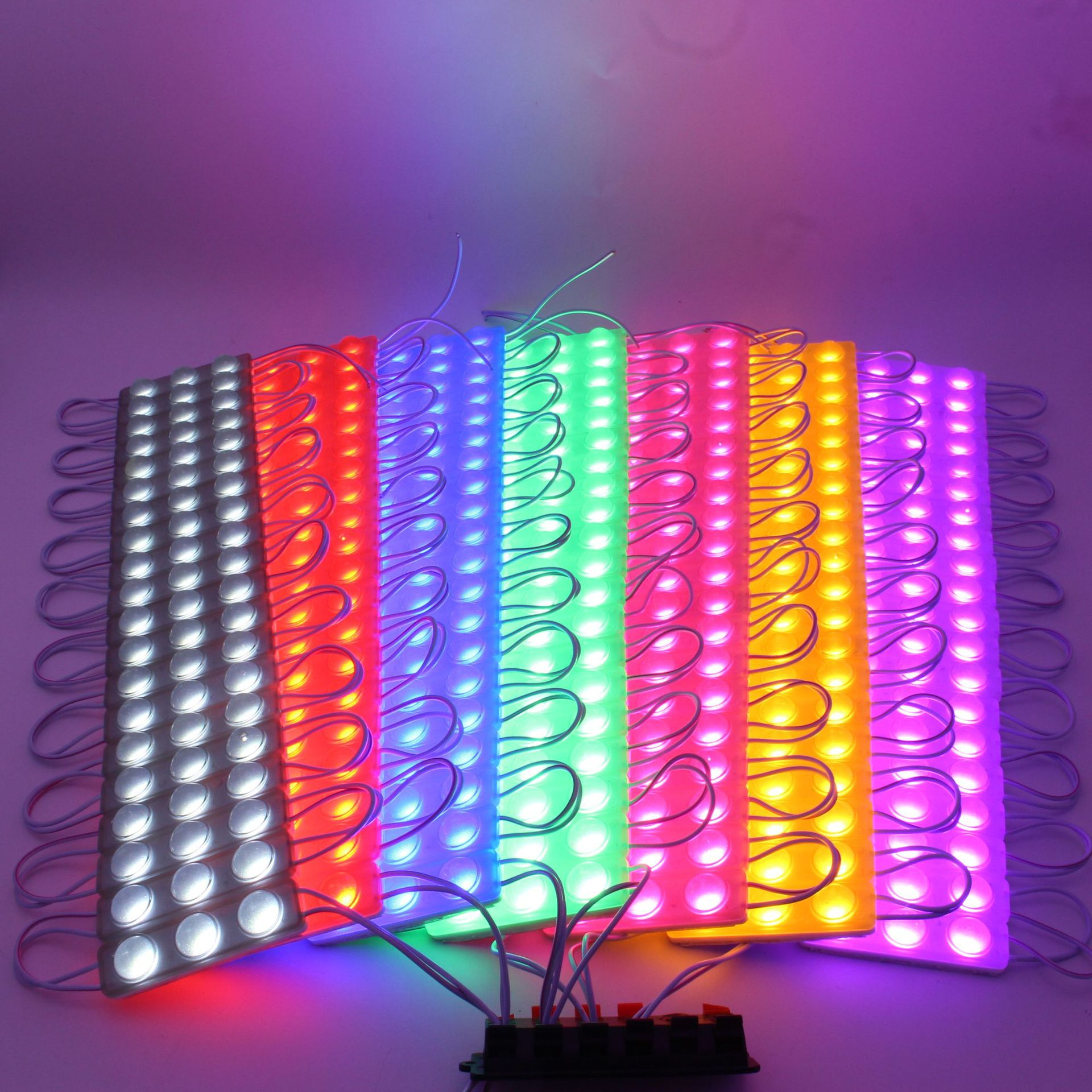 1000Pcs DC 12V IP65 Waterproof Slim LED Injection Module 2835 RGB Self-flashing With Lens Blister Luminous Characters enlarge
