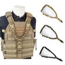 Ao ar livre cinto cs mochila acessórios hutning tactical gun sistema de segurança cabo retrátil corda de segurança arma rifle pistola estilingue # g2