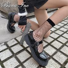 Harajuku Woman Socks Sexy Fishnet Hollow Mesh Designer Socks Diablo Punk Ins Japanese Student G Irl