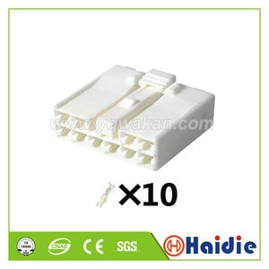 2sets 10pin auto wiring electric plug 7283-1100 unsealed plastic plug connector 7283-1100