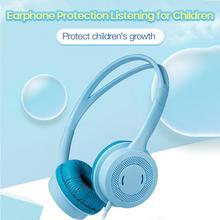 Cute Kids Wired Soft Headphones Stereo Music Children Over-Ear Headset Adjustable Headband Computer