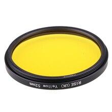 Camera Filter 52mm Full Yellow Color Lens Filter for Nikon D3100 D3200 D5100 SLR Camera lens