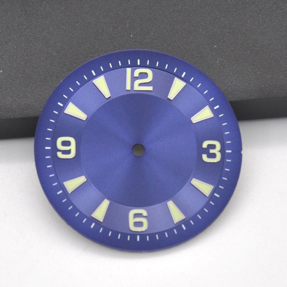 Mens watch dial Sterile blue face Luminous 33.5mm Fit Miyota 8205/8215/821A,ETA 2836 ,DG2813 seagull st  mechanical wristwatch