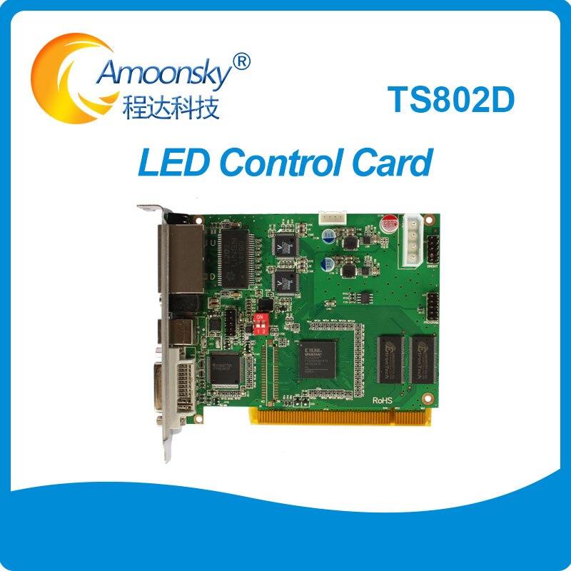 Linsn-بطاقة إرسال شاشة led ، بطاقة إرسال شاشة led ملونة كاملة TS802D ، تحل محل TS801 TS801d