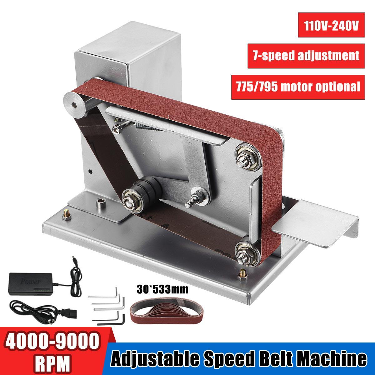 Mini amoladora angular lijadora de banda eléctrica con adaptador de 3cm pulidora cortadora de bordes afilador Correa amoladora 110/220V