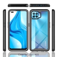 pctpu silicone full body protection shockproof phone case for oppo a72 a12 a15 a92 a53 a93 silicone protective cover funda