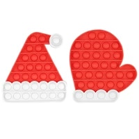 anti stress child fidget toys simple dimpl kawaii christmas tree hat gloves separatable antistress new style gift for kids