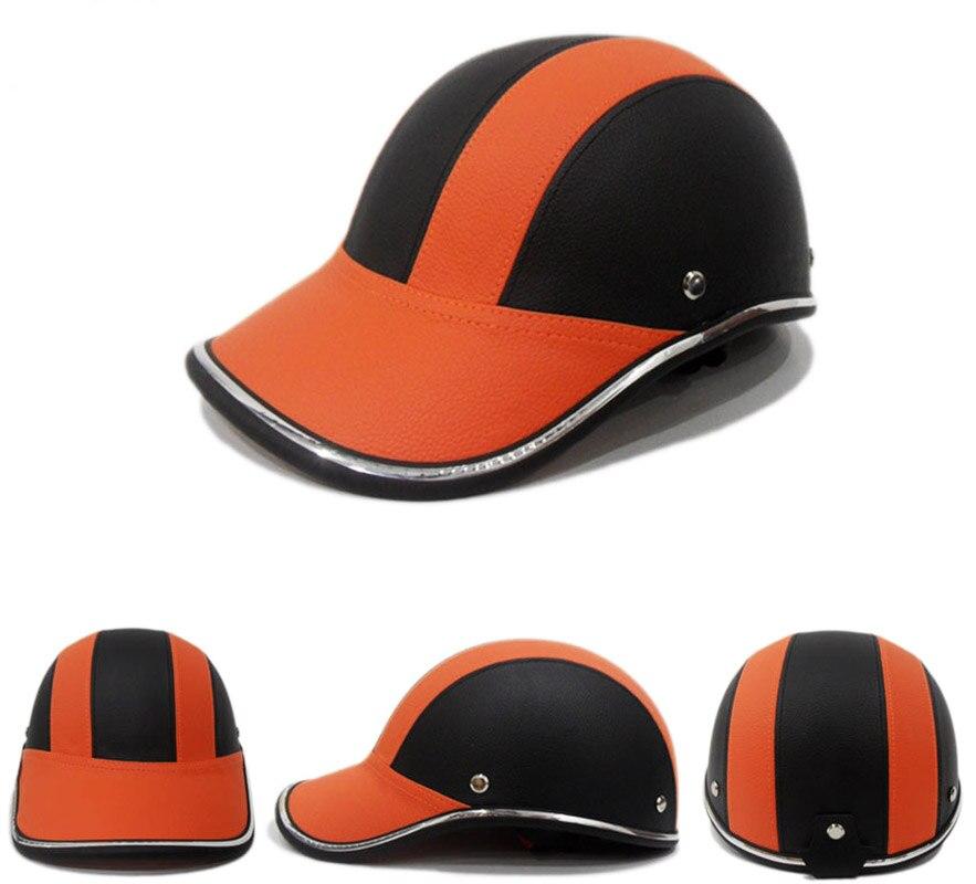 Винтажная мотоциклетная бейсбольная кепка, полулицевые Ретро шлемы, мотоциклетные кожаные велосипеды Чопперы, скутеры, головные уборы, шле...