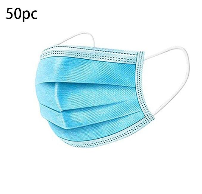 Mascarilla facial Industrial desechable de 3 capas, Máscara protectora con elásticos para...