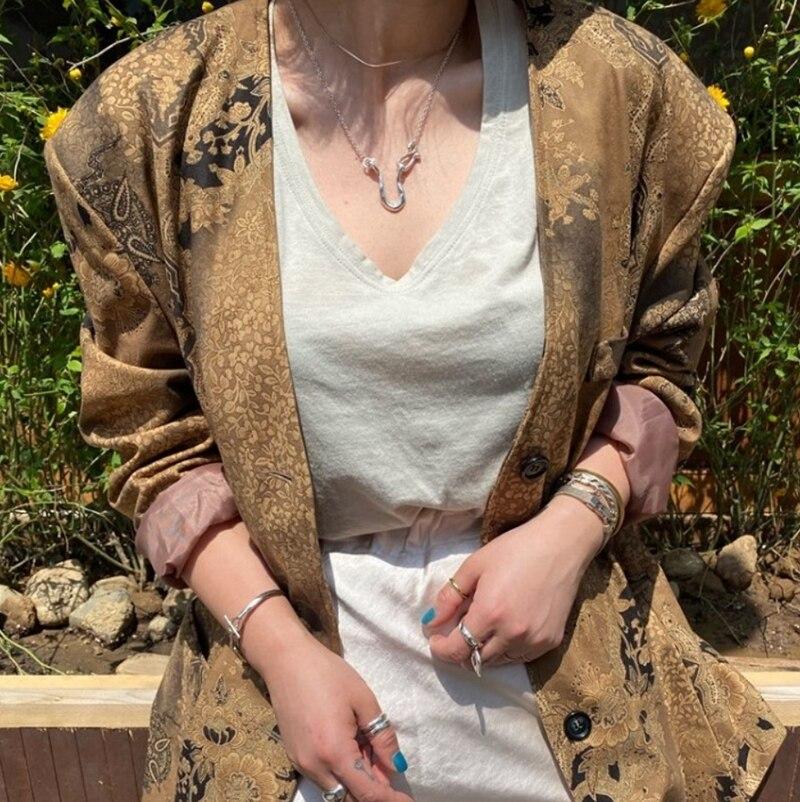 Collar Louleur De Plata Irregular Esterlina 925 Collar De Plata Grotesca Minimalista Para Mujer Regalos De Joyería Fina De Moda Collares De Cadena Aliexpress