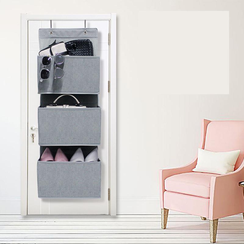 Bolsa colgante multicapa para puerta trasera de tela no tejida bolsa de almacenamiento de zapatos bolsa de almacenamiento para colgar impermeable