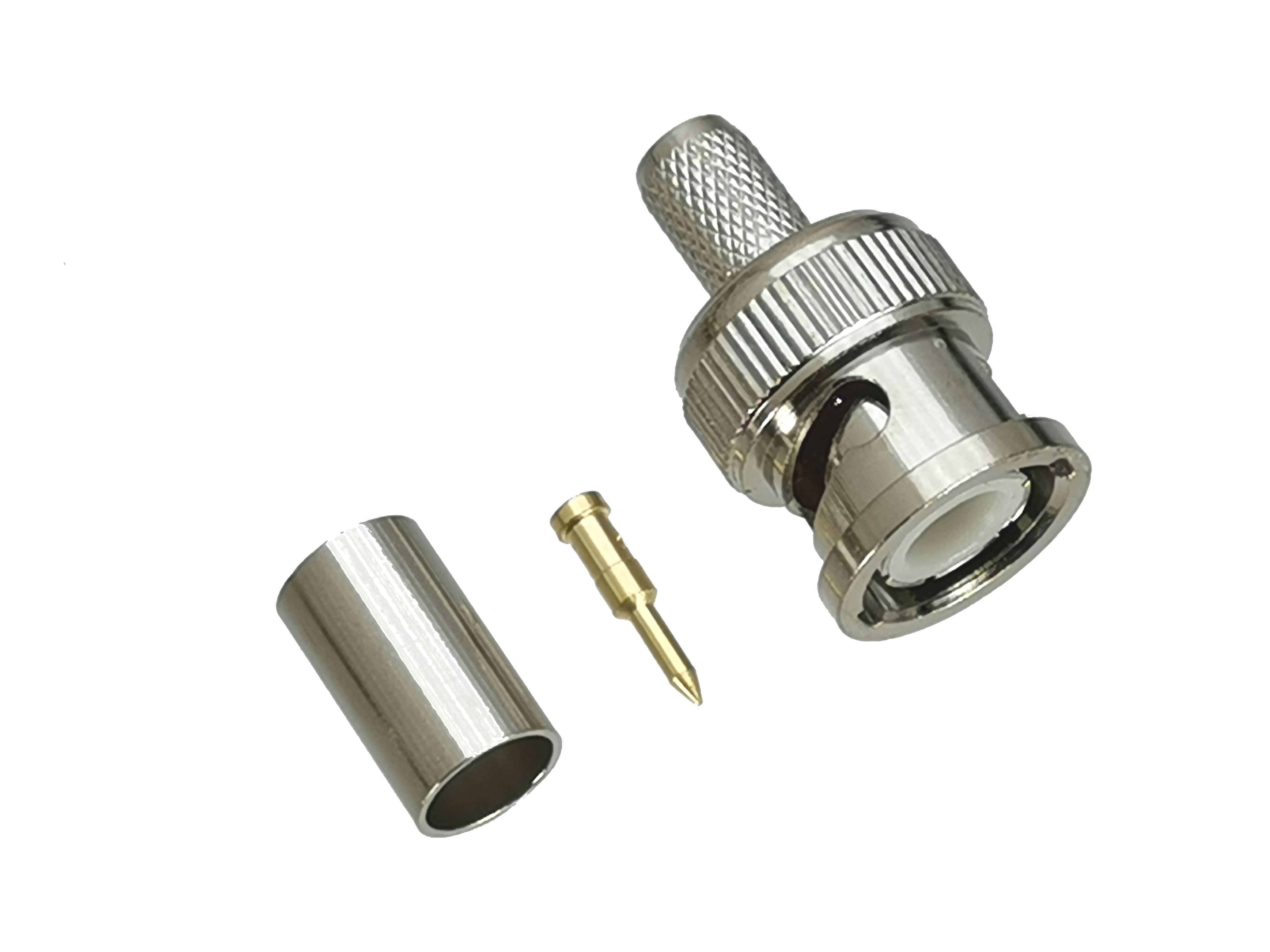 10 pces conector bnc macho plug friso para rg8x RG-8X lmr240 cabo 50ohm rf adaptador coaxial alta quanlity