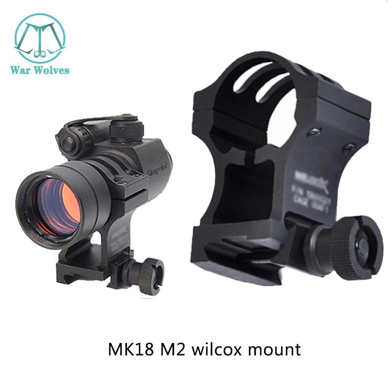 Airsoft MK18 comp mount M2 wilcox mount RIS 20mm weaver carril para montura táctica tipo M2/M3